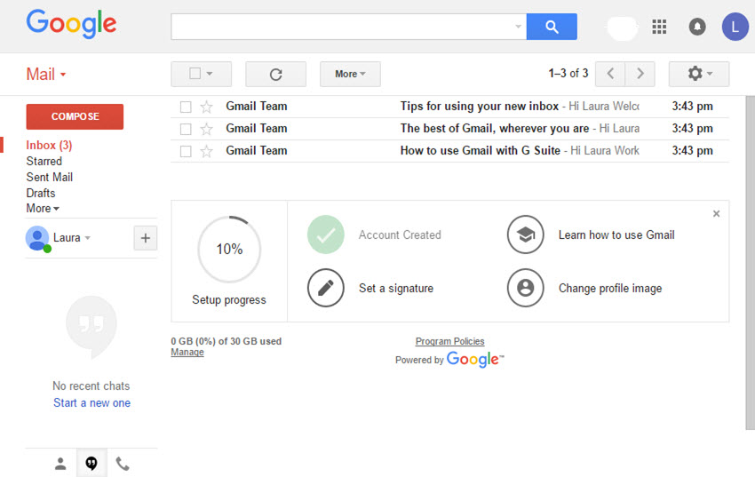 gsuite mail box